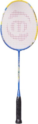 Maspro Ultra Carbon Junior G4 Strung Badminton Racquet (Yellow, Blue, Weight - 300 g)