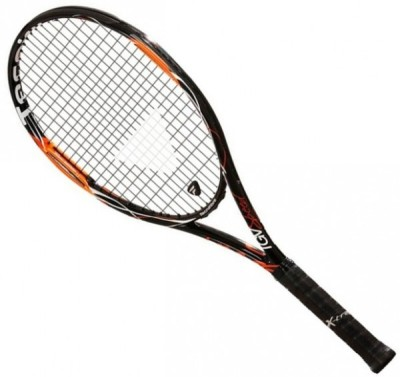 Tecnifibre Tgv Speed G3 STRUNG Tennis Racquet (Black, Orange, Weight - 265 g)
