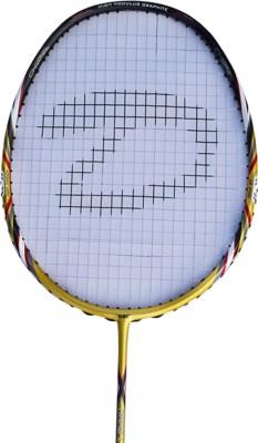 DSC Nano lite 1000 Gold/Black/Red G4 Strung Badminton Racquet (Gold, Black, Red, Weight - 85 g)