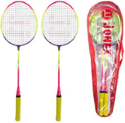 JJ JONEX SET OF 2 LEADER Strung Badminton Racquet (Multicolor, Weight - 220 g)
