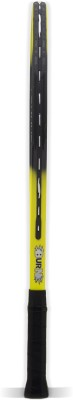 BURN Tornado21 Standard Strung Tennis Racquet (Yellow, Black, Weight - 225 g)