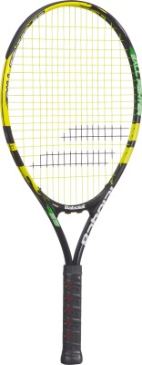 Babolat Ballfighter 25 - Grip 00 G4 Strung Tennis Racquet (Black, Yellow, Weight - 215 g)