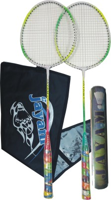 JAYAM RANGEILA TRIPLE (2 RACKET + 10 SHUTTLE + BAG) G4 Strung Badminton Racquet (Multicolor, Weight - 450 g)