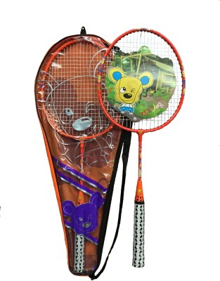 Guru Toy Magic G4 Strung Badminton Racquet (Orange, White, Weight - 90 g)
