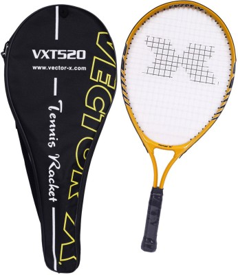 Vector X Vxt 520 23 inches with full cover 1# Strung Tennis Racquet (Yellow, White, Weight - 215 g)