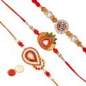 Tradition India Design Designer Rakhi (Multicolor, 3 Fancy Rakhi, 1 Pack Roli, 1 Pack Rice) - RAKEA8RTGBDRUKXB
