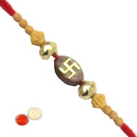 Tradition India Design Designer Rakhi Multicolor, 1 Beads Rakhi, 1 Pack Roli, 1 Pack Rice - RAKE9YAG5HMVZEQS