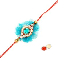 Tradition India Design Designer Rakhi Multicolor, 1 Stone Rakhi, 1 Pack Roli, 1 Pack Rice