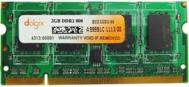 Dolgix Unbuffered DDR2 2 GB Laptop (Dol2gd2so800)
