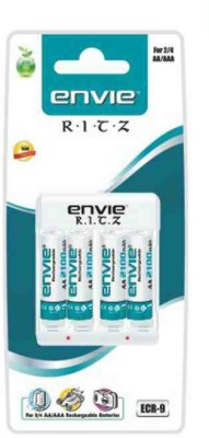 Envie ECR-9 Ritz Battery Charger (with 4 x AA 2100 Ni-Mh Rechargeable Batteries)