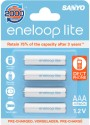 Sanyo Eneloop Lite (Pre-Charged) HR-4UQ-4BP Rechargeable Battery