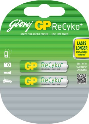 Buy Godrej GP ReCyko AAA (2 Pcs - Pre-Charged) Rechargeable Battery: Rechargeable Battery