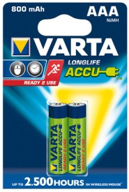 Varta Longlife Accu AAA Size Ni-MH 800 MAH (2 Pcs) Rechargeable Battery