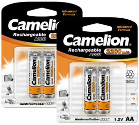 Camelion NH-AA2200BC2 x 2 PACK Rechargeable Ni-MH Battery