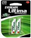 Eveready 2100mAh - Pack Of 2 Rechargeable Battery