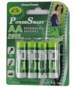 Power Smart Aa Ni-Mh 2800 MAh Capacity Rechargeable Ni-MH Battery