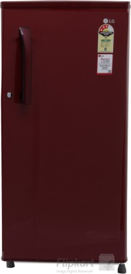 LG Direct Cool Single Door Refrigerator 190 L (B205KSHP, Scarlet Heart)