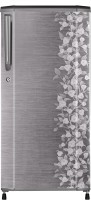 Haier 190 L Direct Cool Single Door Refrigerator (HRD-2105CGI-H, Brushed Silver Floral)