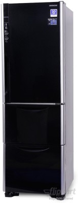 Hitachi 336 L Frost Free Triple Door Refrigerator (R-SG31BPND, Glass Black)