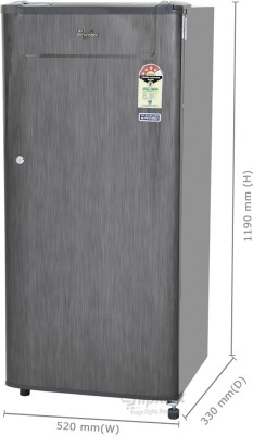 Whirlpool 190 L Direct Cool Single Door Refrigerator (205 GENIUS CLS PLUS 4S, Grey Titanium)