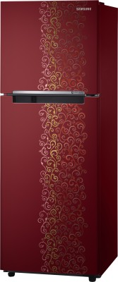 Samsung 253 L Frost Free Double Door Refrigerator (RT28K3022RJ, Royal Tendril Red)