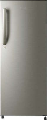 Haier 220 L Direct Cool Single Door Refrigerator (HRD-2406BS-R, Brushed Silver)