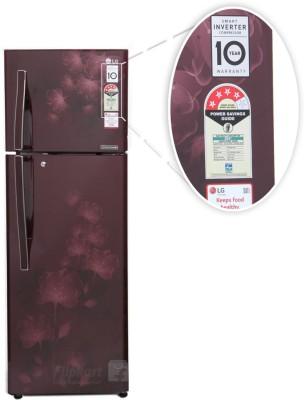 ... LG 308 L Frost Free Double Door Refrigerator (GL I322RSFL, Scarlet  Florid) ...