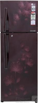 LG 284 L Frost Free Double Door Refrigerator (GL-I302RSFL, Scarlet Florid)