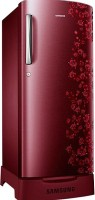 SAMSUNG 192 L Direct Cool Single Door Refrigerator (RR19H1825RY/TL, Sanganeri Ring Red)