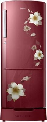 Samsung 230 L Direct Cool Single Door Refrigerator (RR23K282ZRZ, Tender Lilly Red)