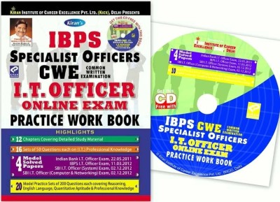 Buy IBPS Specialist Officers CWE I.T. Officer Online Exam Practice Work Book (With Free CD): Regionalbooks