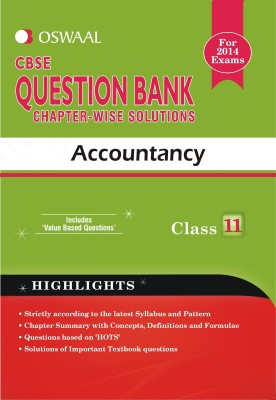 Buy Oswaal CBSE Question Bank Chapter-Wise Solutions For Class 11 Accountancy: Regionalbooks