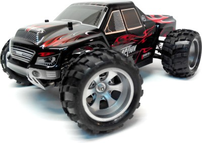 Wltoys RC Monster Truck Upto 50Kmph 4 Wheel Drive 1:18 Scale 2.4 Ghz With Oil Suspension (Red, Black)