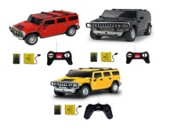 Dinoimpex R/C 1:24 Hummer H2 SUV (Red, Black, Yellow)