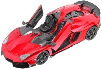 Saffire Lamborghini Aventador J Rechargeable RC Car With Opening Doors - Ready To Run RTR (Red)