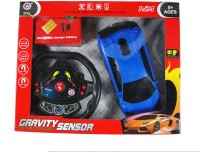 La Shades Gravity Sensor RC Car With Steering And Rechargeable Battery (Blue)