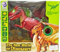 Venus-Planet Of Toys Remote Control Dinosaur With Flashing Light, Dino Sound,Head Swing & Walking Feature (Multicolor)