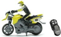 Toys Bhoomi RC Mini Stunt MotorBike (Yellow)