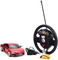 Fantasy India Remote Control Rechargeable Gravity Sensor R/C Toy Car With Steering (1:18) (Red)