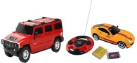 ECO SHOPEE REMOTE CONTROL 1:24 RED HUMMER CAR WITH JACKMEAN RECHARGABLE CAR WITH STEARING (MULTICOLOR) TOY FOR KIDS (RED)