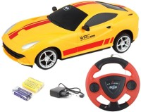 TOYBAZAAR Jackmean R-C Powerful Rechargeable Radio Control Toy With Steering [Yellow] (Yellow)
