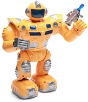 RIANZ Super S Walking Warrior Robot With LED Lights And Music (Multicolor)