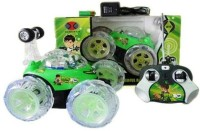 Kotak Sales Ben 10 Stunt Car High Quality Remote Control Dancing Racing Led (Green)