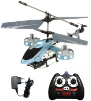 Shopcros Remote Control Rechargeable 4 Channel Helicopter (Blue) (Blue)