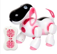 Toybee Smart Dog Robot Toy- Infrared Remote Control Series 2089 (White, Pink)