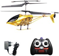 GM Enterprises 3.5 Channel Helicopter With Remote-Golden & Black (Gold)
