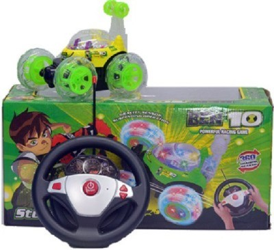 ToyTree Steering Control Ben 10 Stunt Car (Green)