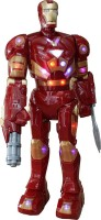 AdraxX Large RC Dancing, Talking And Walking Ironman Robot Toy (Red)