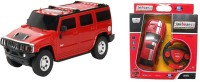 ECO SHOPEE REMOTE CONTROL 1:24 RED HUMMER CAR WITH RED JACKMEAN RECHARGABLE CAR WITH STEARING TOY FOR KIDS (RED)