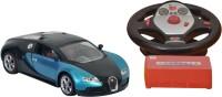 Dream Deals Super Racing Car With 5.1 Sound System,1:14 Model With Gravity Sensor (Black & Light Blue)